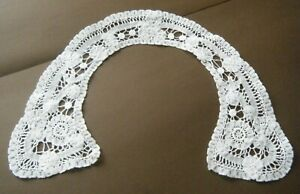 Old Antique Brussels Lace Collar Combo Duchesse Lace Princesses Hand Done