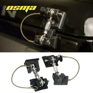 For 07 18 Jeep Wrangler Jk Unlimited Black Hood Catch Latches Locking Kit Pair
