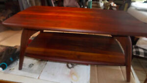 Solid Walnut Mid Century Coffee Table By Bissman Ct110