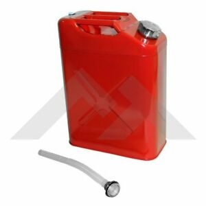1 Red Metal Jerry Can With Spout Fit All Jeep Models Wrangler Cj Yj Tj Lg Jk Jl
