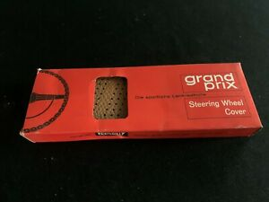 Old Nos Grand Prix Lace On Steering Wheel Cover Tan Color Rat Rod Gasser Chevy