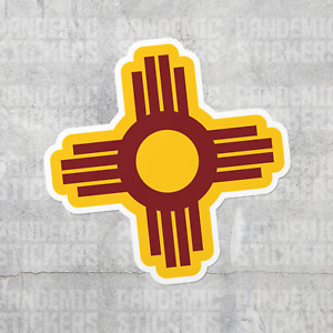 Zia New Mexico Sticker Laptop Car Window Stickers Symbol Pueblo Santa Fe Burque