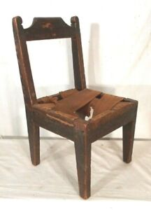Antique Early 19th Century Primitive Childs Chair