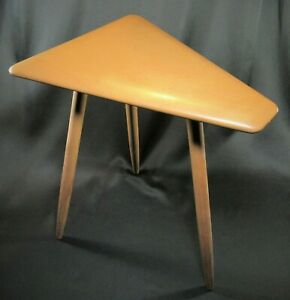 Mid Century Modern Cushman Cigarette Or Side Table Signed Ca 1950 S Rare Piece