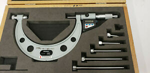0 6 Mitutoyo 340 711 10 Digimatic Outside Micrometer 0 00005 Res W etchings