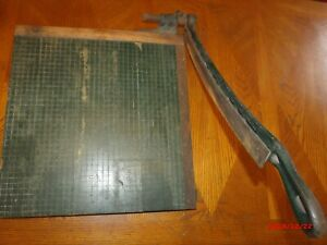 Vintage Large Milton Bradly 18 X 19 Paper Cutter Trimmer With Auto Lift Blade