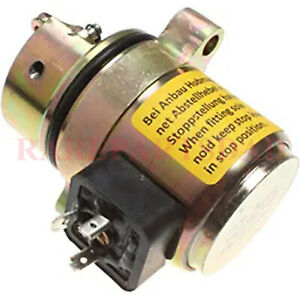 For Deutz 1011 Motor Case 360 Backhoe Shut Off Solenoid 04170534r