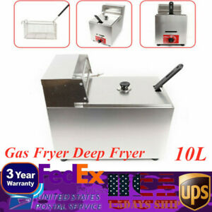 Kld 71 10l 1 pot Commercial Restaurant Kitchen Gas Fryer Deep Fryer 1basket New