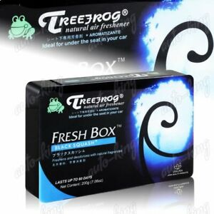 Tree Frog Black Squash Natural Extreme Car Air Freshener Fresh Box Universal