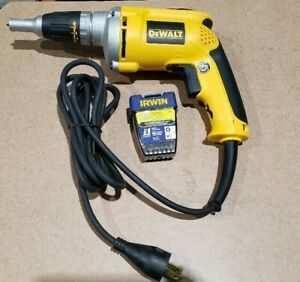 Dewalt 4000 Rpm Variable Speed Reversible Electric Drywall Screwgun Corded