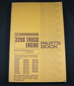 Cat Caterpillar 3208 Truck Engine Parts Manual Book Catalog 40s1 To Last Built