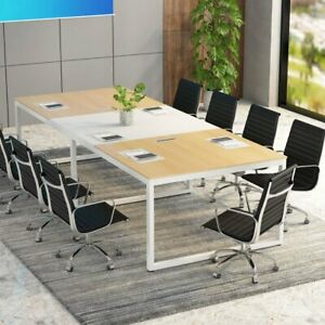 Conference Rectangular Table With Steel Frame Legs Boardroom Meeting Room Office