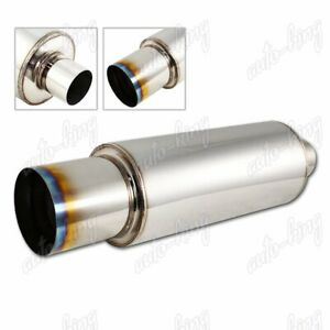 Universal 4 Burnt Tip 2 5 Inlet T 304 Stainless Steel Weld on Exhaust Muffler