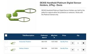 Dexis Handheld Platinum Digital Sensor Holders 2 pkg