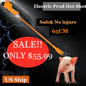 Electric Prod Cattle Cow Hot Shot Handle Swine Proder Livestock Tool 65cm