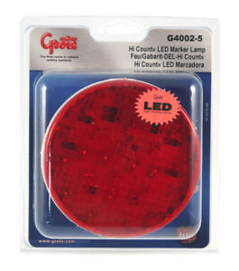 Grote G4002 5 Red Hi Count 4 Led Stop Tail Turn Lights