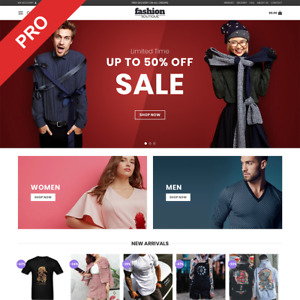Fashion Store Dropshipping Website Men Women Clothing Automated Business