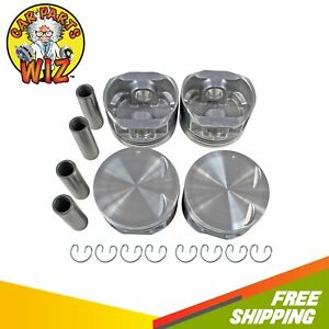 Piston Set Std Size Fits 94 98 Saturn Sc2 Sl2 1 9l L4 Dohc 16v