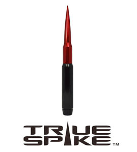 True Spike 9 Fat Bullet Spiked Antenna Black Red For 07 18 Jeep Wrangler Jk