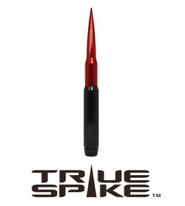 True Spike Billet 9 Fat Bullet Antenna Black Red For 2007 2020 Gmc Sierra 1500