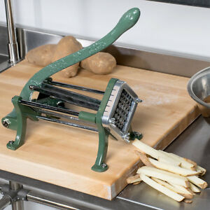 1 2 Green Countertop Cast Iron French Fry Potato Cutter Slicer