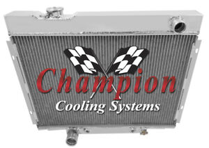 3 Row Best Cooling Champion Radiator For 1967 68 69 1970 Ford Mustang V8 Engine