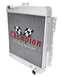 3 Row Best Cooling Champion Radiator For 1958 Chevrolet Biscayne V8 Engine