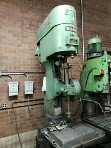 Used Edlund 4f 12 Drill Press 24 Table 29 Max Spindle To Table Distance