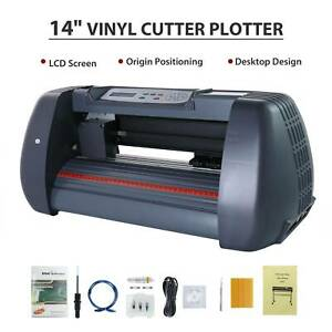 14 vinyl Cutter Plotter Paper Cutting Edges Printer Lcd Screen Sign Maker New
