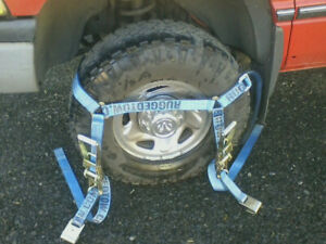 Four 4x Rugged Towing Blue Flat Bed Car Hauler Ratchet Tie Down Straps