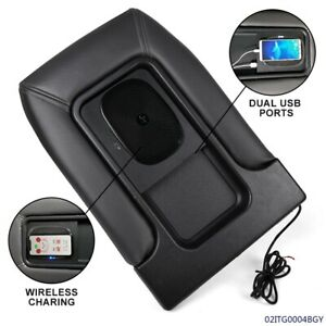 Usb Port Wireless Charging Armrest Center Console Lid For 01 07 Chevy Silverado
