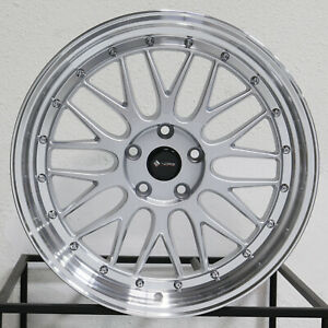4 new 18 Vors Vr8 Wheels 18x8 18x9 5x112 35 35 Silver Staggered Rims