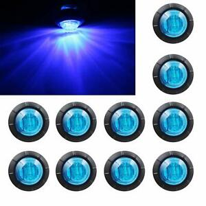 Purishion 10x 3 4 Round Led Clearence Light Front Rear Side Marker Indicato