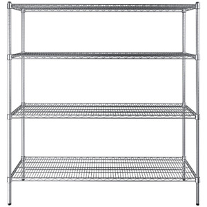 any Size Heavy Duty Chrome Metal Wire Shelf Rack Commercial Store Shelving Nsf