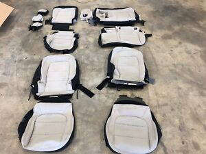 Factory Oem Replacement Cloth Seat Covers Tan Black 2020 Ford Escape Se