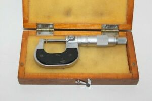 Fowler 52 229 001 0 1 0001 Micrometer Vintage Antique With Case el1043750