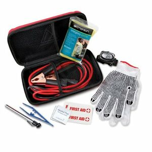 Auto Emergency Kit Roadside 10 Pieces Emerson Jumper Cables Poncho Gloves