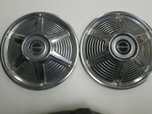 Vintage 1965 Ford Mustang 14 Hubcaps With Black Mustang Center Cap Lot Of 4