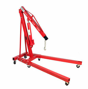 Dragway Tools 2 Ton Folding Hydraulic Engine Hoist Cherry Picker Shop Crane