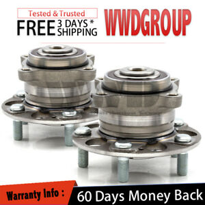 2x 512353 Rear Wheel Hub Bearing For 2009 2014 Acura Tsx Fwd