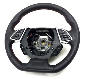 23379916 Oem Steering Wheel Black Red Stiches 2016 Chevrolet Camaro Ls