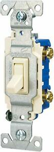 Eaton 15 amp Single pole Ivory Toggle Residential Light Switch 10 pack