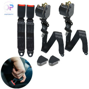 2 Universal 3 Point Retractable Seat Belts Fit For Jeep Cj Yj Wrangler 82 95