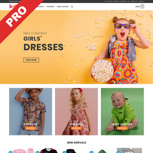Premium Dropshipping Website Kids Fashion Store Automated Business