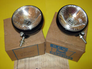 A Pair Of Sev Marchal Tractor Lights 611 00012 Nos