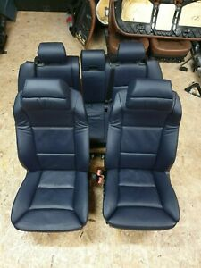 Bmw E61 550i Comfort Seats Heated Front And Back Heat Dark Blue Oem