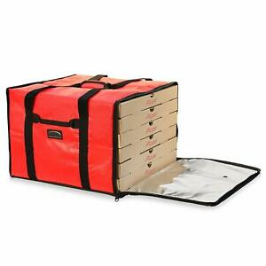 Insulated 6 Box Pizza Delivery Bag Food Warmer Travel Storage Container Carrier
