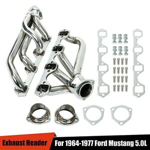 Shorty Stainless Steel Headers Exhaust Manifolds For Ford 1964 1977 260 289 302