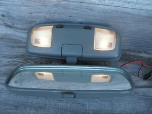 Toyota Tacoma 4runner Truck Rear View Mirror With Map Lights Gray W Screws