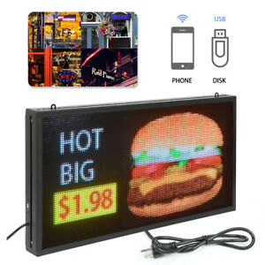 27 x 14 Full Color Programmable Window Led Sign Display Images Animations Text